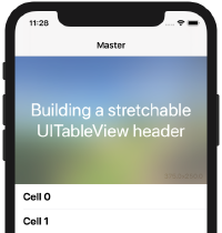 Building a stretchable UITableView header